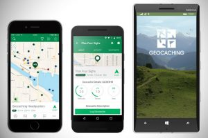 smartphone gps for geocaching