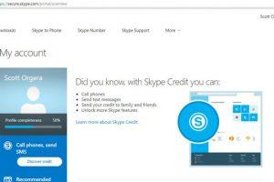 delete a skype account