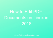 Edit PDF Documents on Linux