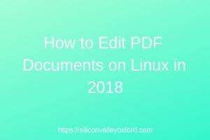 Edit PDF Documents on Linux