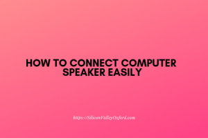 connect computer speaker
